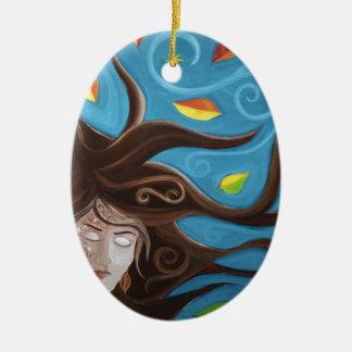 Windy Day Ceramic Ornament