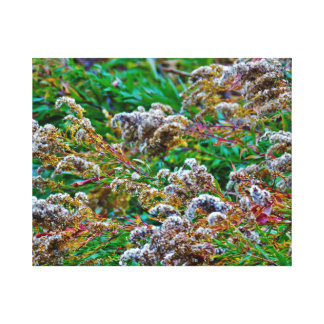 Windy Flowers Canvas Print