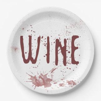 Wine 9 Inch Paper Plate