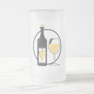 Wine a little 16 oz frosted glass beer mug
