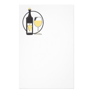 Wine a little customized stationery