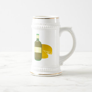 Wine and Cheese 18 Oz Beer Stein