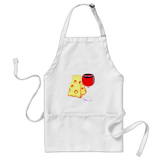 """WINE AND CHEESE"" APRON"