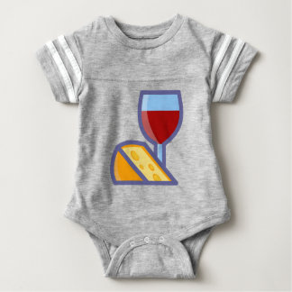 Wine and Cheese Baby Bodysuit