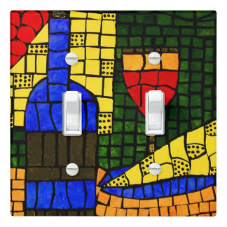 Wine And Cheese Bright Colors Light Switch Cover