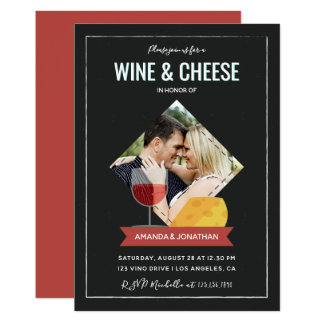 Wine And Cheese Couples Shower/Engagement invite