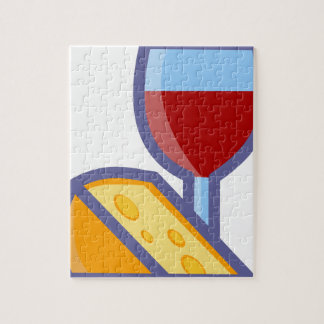 Wine and Cheese Jigsaw Puzzle