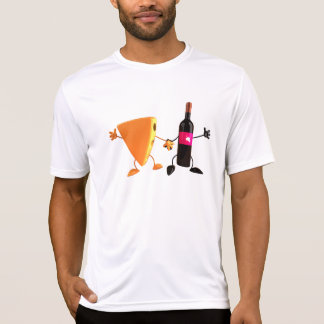Wine And Cheese Mens Active Tee