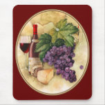 Wine and Cheese Mouse Pad