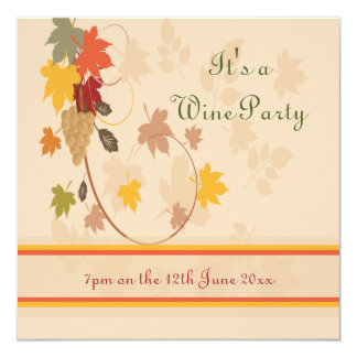 Wine and Cheese Party Announcement