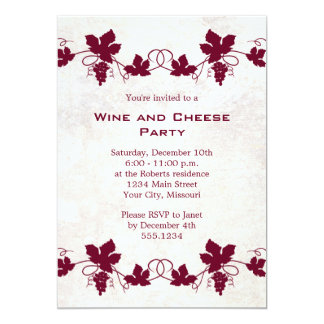 Wine and Cheese Party Invitations