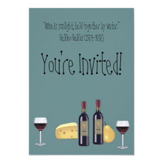 Wine and Cheese Party+Quote Card