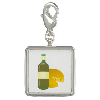 Wine and Cheese Photo Charm