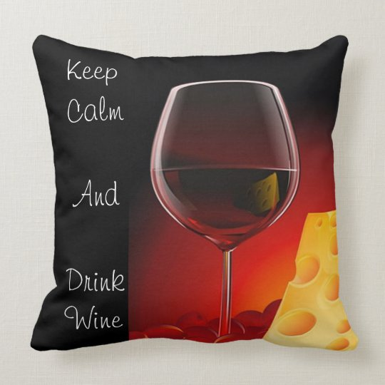 Wine and Cheese Pillow