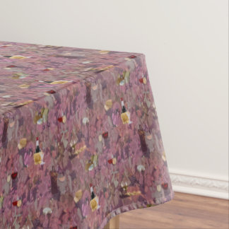 Wine and Cheese Print Tablecloth