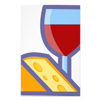 Wine and Cheese Stationery