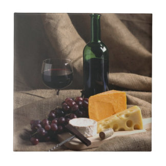 Wine and Cheese Tile Trivet