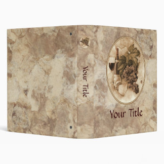 Wine and Cheese Vinyl Binder