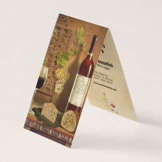 wine and cheese winery folded business card