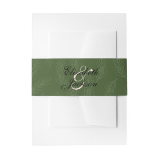 Wine and Flowers Invitation Belly Band