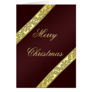 Wine and Gold Colored Christmas Card