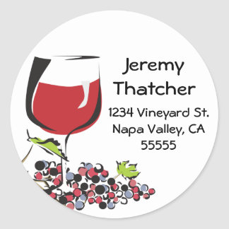Wine and Grape Address Label