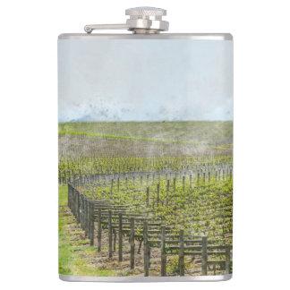 Wine and Grape  Decor Hip Flask