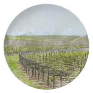 Wine and Grape  Decor Plate