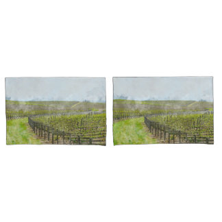 Wine and Grape  Pillow Cases