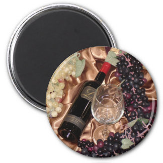 Wine and Grape Theme Magnet