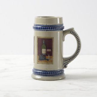 Wine and Grapes Art Gifts 18 Oz Beer Stein