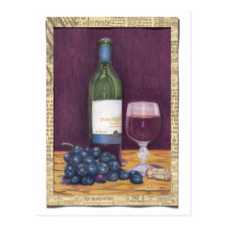 Wine and Grapes Art Gifts Postcard