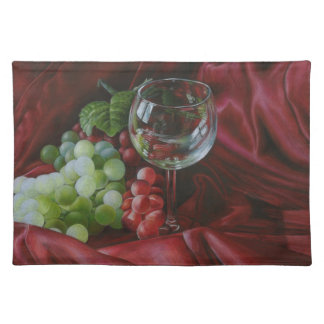Wine and grapes placemat