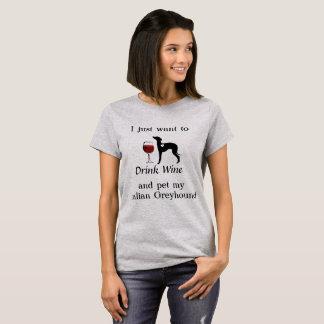 Wine and Italian Greyhound Shirt