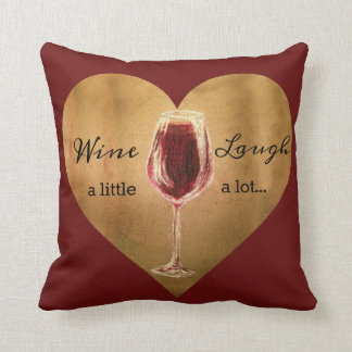 Wine and Laugh Pillow