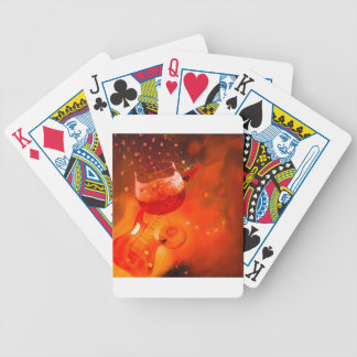 Wine and music are essential in our celebration. bicycle playing cards