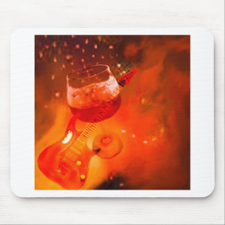 Wine and music are essential in our celebration. mouse pad