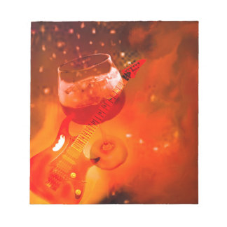 Wine and music are essential in our celebration. notepad