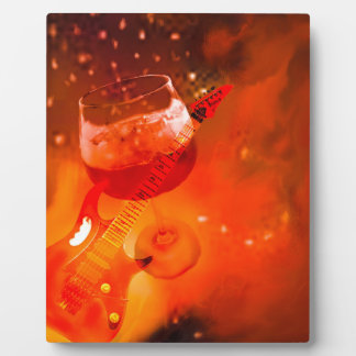 Wine and music are essential in our celebration. plaque