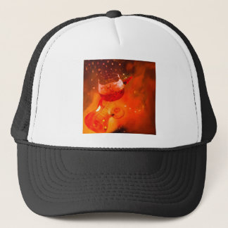 Wine and music are essential in our celebration. trucker hat