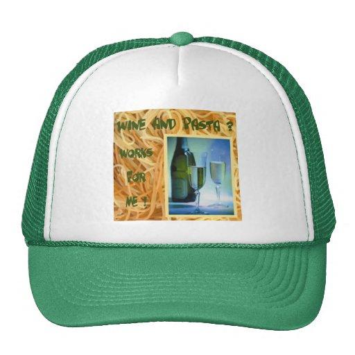 Wine and Pasta Cap Hat