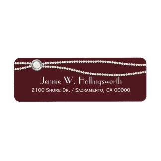 Wine and Pearls Custom Return Address