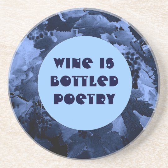 wine and poetry coaster