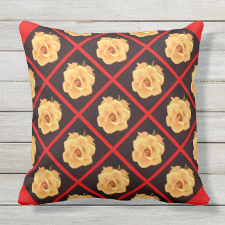Wine and Roses Outdoor Jumbo Pillow