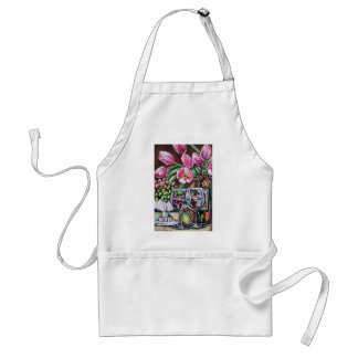 wine and tulips standard apron