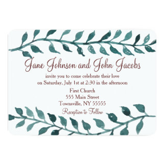 Wine and Vine Wedding Invitation