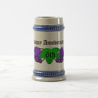 Wine Anniversary Stein 6th Beer Steins