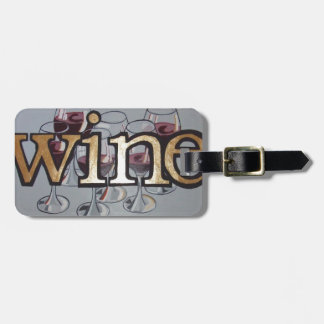 wine anyone luggage tag
