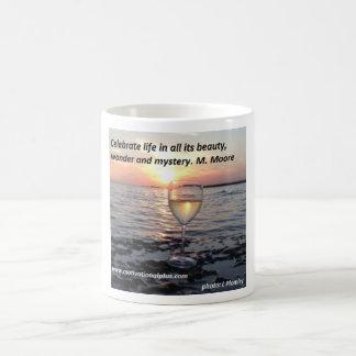 Wine at sunset coffee mug