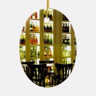 Wine Bar Ceramic Oval Ornament